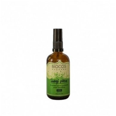 Biocos aromaterapinis purškalas nuo uodų ir erkių Saugi Pieva, 100 ml