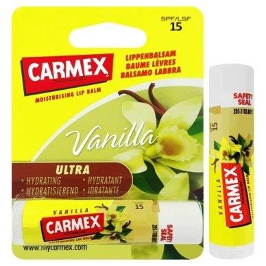 Carmex vanilės skonio pieštukinis lūpų balzamas 4,25 g 3