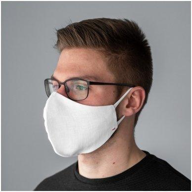 Daugkartinio naudojimo apsauginė veido kaukė Balta, 2 vnt. 10