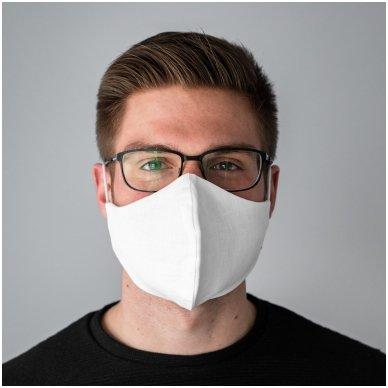 Daugkartinio naudojimo apsauginė veido kaukė Balta, 2 vnt. 9