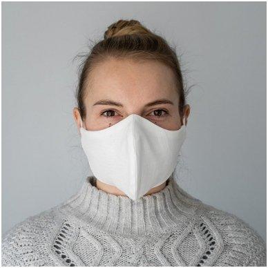 Daugkartinio naudojimo apsauginė veido kaukė Balta, 2 vnt. 5