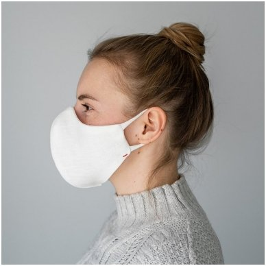 Daugkartinio naudojimo apsauginė veido kaukė Balta, 2 vnt. 6