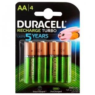Duracell AA 2500 mAh įkraunami elementai, 4 vnt.