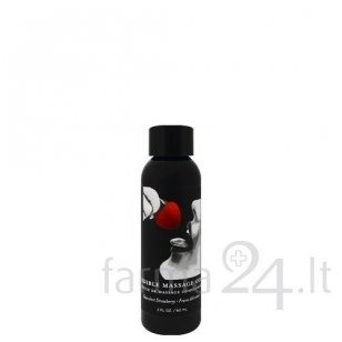 Earthly Body masažo aliejus Strawberry, 60 ml