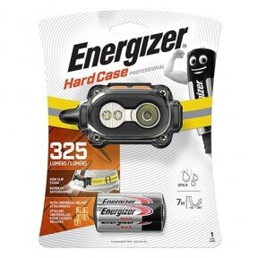 Energizer prožektorius ant galvos 325 Lumens Hard Case Pro