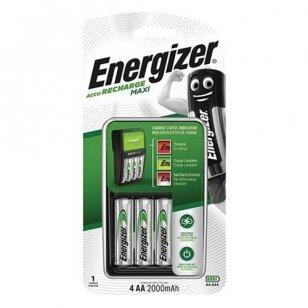 Energizer elementų įkroviklis Maxi su 4 AA elementais