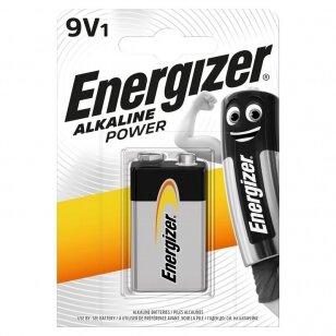 Energizer Power 9 V šarminis elementas, 1 vnt.