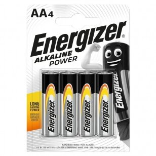 Energizer Power AA LR6 1,5 V šarminiai elementai, 4 vnt.