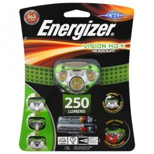 Energizer prožektorius ant galvos Vision HD 250 Lumens su 3 AAA elementais