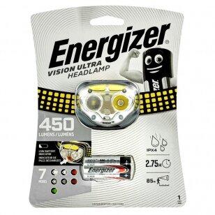 Energizer prožektorius ant galvos Vision Ultra 450 Lumens su 3 AA elementais