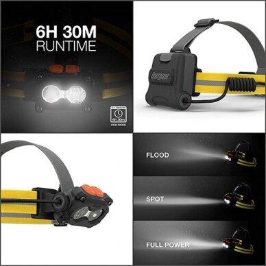 Energizer prožektorius ant galvos 325 Lumens Hard Case Pro 3