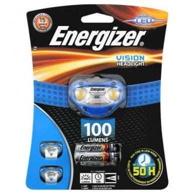 Energizer prožektorius ant galvos Vision 100 Lumens su 3 AAA elementais