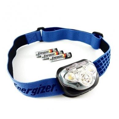 Energizer prožektorius ant galvos Vision 100 Lumens su 3 AAA elementais 3