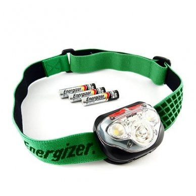 Energizer prožektorius ant galvos Vision HD 250 Lumens su 3 AAA elementais 3