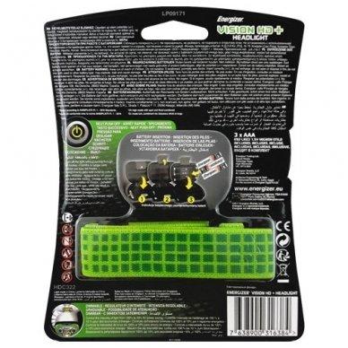 Energizer prožektorius ant galvos Vision HD 250 Lumens su 3 AAA elementais 2