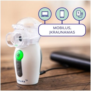 Herupa ultragarsinis inhaliatorius Smart Mesh 5