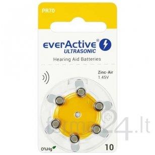 Klausos aparatų baterijos everActive Ultrasonic 10, 6 vnt.