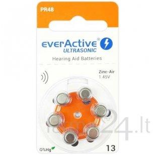 Klausos aparatų baterijos everActive Ultrasonic 13, 6 vnt.