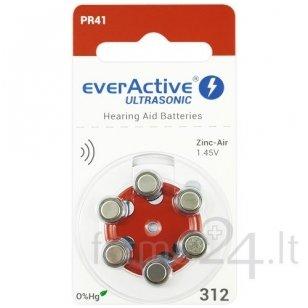 Klausos aparatų baterijos everActive Ultrasonic 312, 6 vnt.