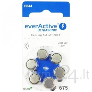 Klausos aparatų baterijos everActive Ultrasonic 675, 6 vnt.