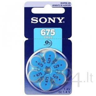 Klausos aparatų baterijos Sony 675, 6 vnt.