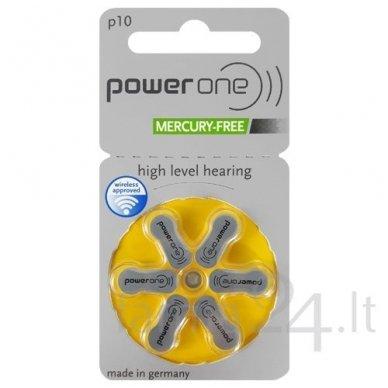 Klausos aparatų baterijos Power One 10, 6 vnt.