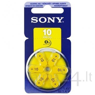 Klausos aparatų baterijos Sony 10, 6 vnt.