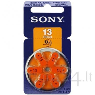 Klausos aparatų baterijos Sony 13, 6 vnt.