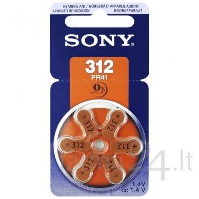 Klausos aparatų baterijos Sony 312, 6 vnt.