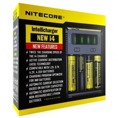 Nitecore elementų įkroviklis Intellicharger i4