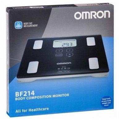 """Omron kūno riebalų matuoklis su svarstyklėmis """"BF-214"""" 3"""