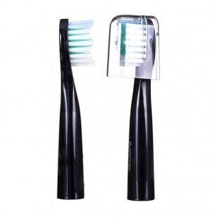 Oromed Oro-Sonic Basic Black dantų šepetėlio keičiamos galvutės, 2 vnt.
