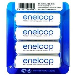 Panasonic Eneloop AA 1900 mAh BK-3MCCE/4LE elementai, 4 vnt.