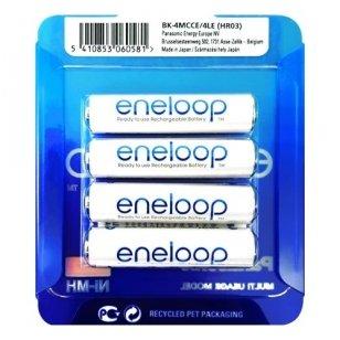 Panasonic Eneloop AAA 750 mAh BK-4MCCE/4LE elementai, 4 vnt.