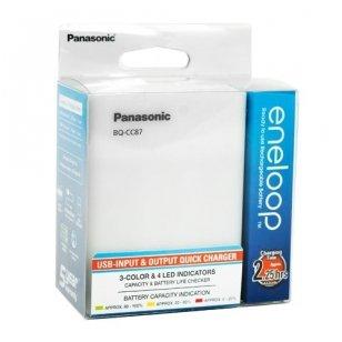 Panasonic Eneloop įkroviklis BQ-CC87 su USB maitinimo laidu