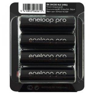 Panasonic Eneloop Pro AA 2500 mAh BK-3HCDE/4LE elementai, 4 vnt.