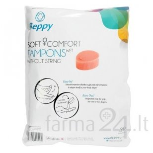 Beppy tamponai Soft Comfort Wet, 30 vnt.