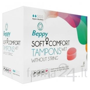 Beppy tamponai Soft Comfort Wet, 8 vnt.