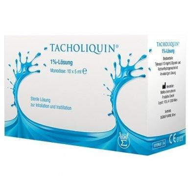 Tacholiquin 1 % tirpalas inhaliacijoms, 10 vnt., 5ml