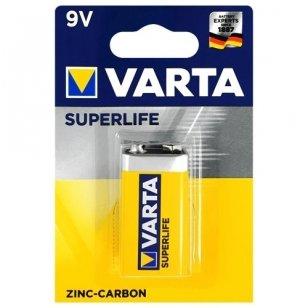 Varta SuperLife 9V cinko anglies elementas, 1 vnt.