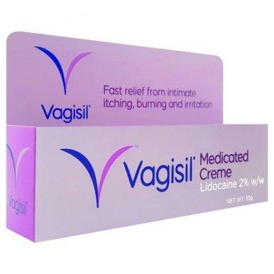 Vagisil Medicated kremas lytinių organų sričiai, 30 g