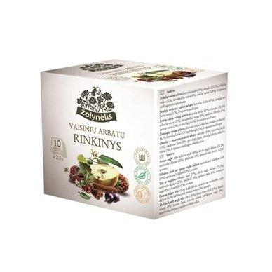 Acorus vaisinių arbatų rinkinys Žolynėlis, 10 vnt.